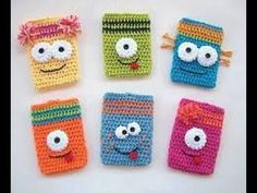Tutorial Funda Smartphone a Crochet o Ganchillo Paso a Paso en Español - YouTube