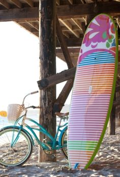 Trina Turk Malibu Gold Stand Up Paddle Board - if I lived in Cali this would be arriving at my door step immediately!