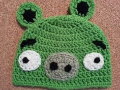 Minion Hat Crochet Pattern Angry Birds Minion Green Pig Character Hat Crochet Pattern Minion Hat Crochet Pattern Minion Inspired Hat Pattern On The Addi King Knitting Machine. Minion Hat Crochet Pattern Tutorial Crochet Minion Hat For C. Crochet Game, Crochet Beanie, Free Crochet, Knit Hats, Crocheted Hats, Crochet Dolls, Crochet Character Hats, Pig Character, Minion Crochet Patterns