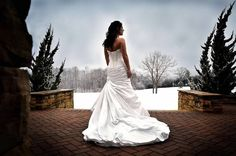 Winter Wedding  Winter Snow Bride  ©Amber S. Wallace Photography
