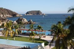 The view from a guest suite at Dreams Huatulco West Coast Resorts, Dreams Resorts, Best Places To Work, All Inclusive Resorts, Guest Suite, Resort Spa, Places Ive Been, Exotic, To Go