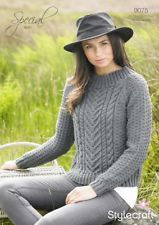 Womens' Cable Sweater in Stylecraft Special Aran. Discover more Patterns by Stylecraft at LoveCrafts. From knitting & crochet yarn and patterns to embroidery & cross stitch supplies! Shop all the craft materials you need to start your next project. Free Aran Knitting Patterns, Knitting Designs, Arm Knitting, Triangle Scarf, Pullover, Knitted Shawls, Crop Tops, Cable Knit Sweaters, Sweaters For Women