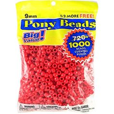 Darice 06121-2-01 1000 Count Pony Beads, 9mm, Opaque Red - CONTINUE @ http://www.laminatepanel.com/store/darice-06121-2-01-1000-count-pony-beads-9mm-opaque-red/?a=0707
