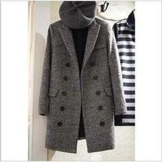 2013秋装新款女装 中长款羊毛呢子毛呢外套秋冬呢大衣女