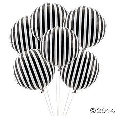 Black Striped Mylar Balloons - Oriental Trading ... Bobette :)