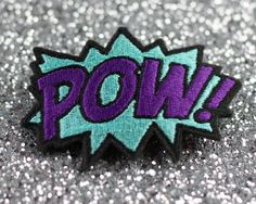 Hey, I found this really awesome Etsy listing at https://www.etsy.com/listing/85986380/pow-hair-clip-comic-book-hair-barrette