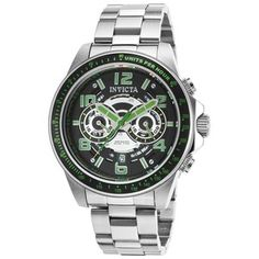 BRAND Invicta 19284 Mens Speedway Dual Time SS Black Silver-tone Dial Watch for sale online Black Stainless Steel, Stainless Steel Watch, Casual Watches, Watches For Men, Silver Man, Black Silver, Invicta Pro Diver Chronograph, Oversized Watches, Mens Watches Leather