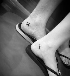 Matching plane tattoos by Lilo