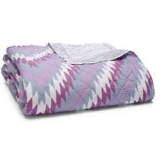 Jr by John Robshaw Freya Quilt, King ($425) ❤ liked on Polyvore featuring home, bed & bath, bedding, quilts, lilac bedding, king bedding, lightweight bedding, king quilt coverlet and king size bed linens