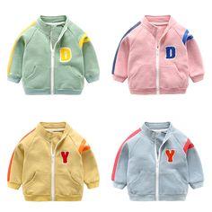 bd6a41a2a Chaqueta del uniforme de Béisbol infantil bebé recién nacido abrigo de  primavera 2018 de ropa deportiva de algodón