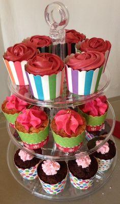 Valentine's Cupcake Tower