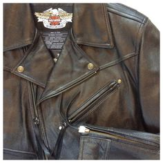 Spotted while shopping on Poshmark: Leather Harley Davidson jacket! #poshmark #fashion #shopping #style #Harley Davidson #Jackets & Blazers