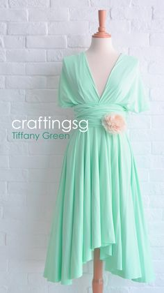 This is cool! An infinity dress... All of your bridesmaids can wear the same dress but style it differently... And it's not very expensive! Great buy for a bridesmaid