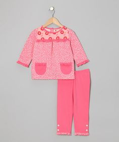 Take a look at this Flamingo Pink Daisy Top & Capri Pants - Toddler & Girls by orange poppy kids on #zulily today!