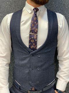 Marc Suit Vest, Vest Jacket, Navy Slim Fit Suit, Navy Vest, Wool Suit, Winter Collection, Swagg, Navy Blue, Plaid
