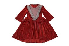 Red apple candy dress for little girls