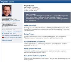 Magnus Bühl - it-training & it-coaching bei BNI