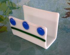 GLASS Business CARD HOLDER Fused Glassed by DawnofCreationArt, $14.00