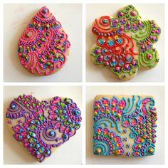 Creme Delicious Mehndi Decorated Cookies - TheBigFatIndianWedding.com