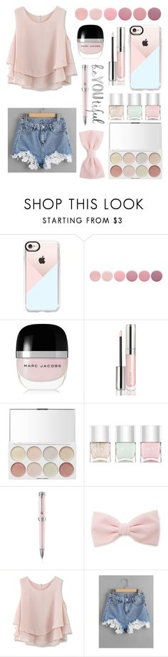 """""""beYOUtiful"""" by courtneylovescats ❤ liked on Polyvore featuring Casetify, Deborah Lippmann, Marc Jacobs, By Terry, Nails Inc., Montegrappa, Forever 21, Chicwish and pastels"""