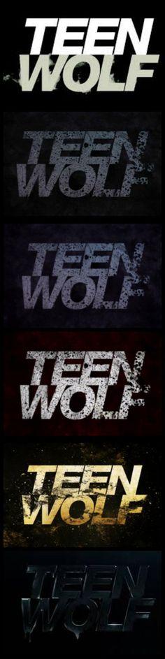 Teen Wolf' s logos of the seasons :) Amazing...