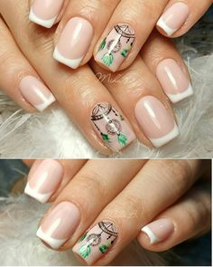 Dreamcatcher nails, french nails