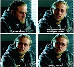 Jax is terrifying when he's quite. I prefer it when he yells. I kind of thought he was going to kill Bobby in this scene.