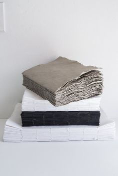 The Liasse ( bundle ) notebook is handmade with cotton pulp & water  sold individually medium  10 w x 13.5 h small 7 w x 9.5 h xsmall 5w x 7.5h