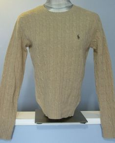 RALPH LAUREN BLACK CABLE KNIT V-NECK SWEATER WHITE PONY NWT  S L