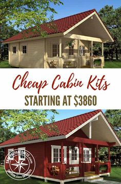 Cheap Cabin Kits Starting At 3860 SHTFPreparedness Cheap Cabin Kits Starting At 3860 SHTFPreparedness Diana Knight Mayfield dianaknightmayfield Narrow house Cheap cabin kits are a great nbsp hellip Tyni House, Tiny House Cabin, Tiny House Design, Cabin Homes, Small House Plans, Tiny House Kits, Cheap House Plans, House Floor, How To Build A Log Cabin