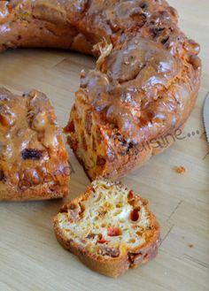 Cake aux poivrons rouges et au chorizo