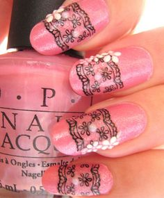 30 Astonishingly Pretty Lace Nail Art Designs | Feminiya