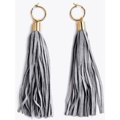 Altered States Fringe Earrings In Gray (455 RUB) ❤ liked on Polyvore featuring jewelry, earrings, accessories, gray earrings, grey jewelry, fringe jewelry, earring jewelry and gray jewelry