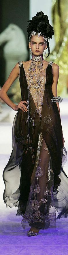 Christian Lacroix at Couture Fall 2005 - StyleBistro #PurelyInspiration