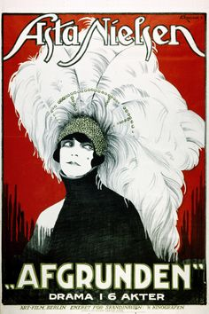 Asta Nielsen film and drama poster, 1920