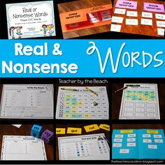 Using Nonsense Words for RTI and Centers