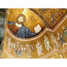 Il cristo pantocratore dell'abside della cattedrale di #monreale  #patrimoniodellunesco #unesco #mosaici #oro #gold #art #religion