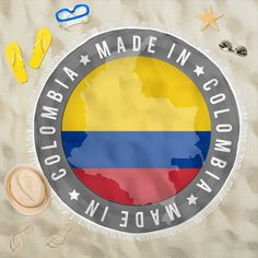 Made In Colombia Beach Blanket Beach Blanket, Picnic Blanket, Us Beaches, Prints, How To Make, Polyester Spandex, Ideas, Products, Colombia