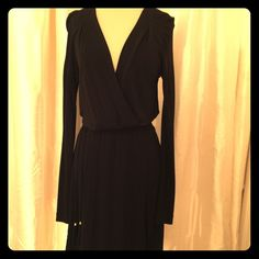 Black DVF Wrap Dress with Tassel Belt Brand new with tags. Black Size 8. Diane von Furstenberg Dresses Long Sleeve