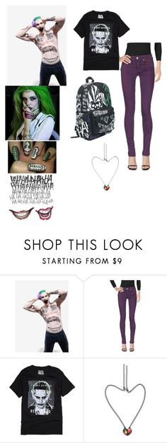 """""""Joker's My Villian"""" by wingsofafairy ❤ liked on Polyvore featuring DC Comics and Dondup"""