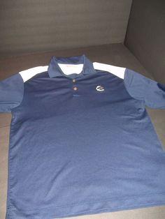 2fda9792 Nike Fit Dri Golf M Short Sleeve Dark Blue White MC Polo Swoosh #NikeGolf  #PoloRugby
