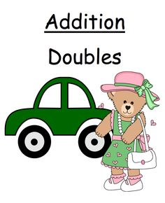 "FREE MATH LESSON - ""FREE Math Center Game Math Addition 'Doubles' Concept ~ Over 50 Pages"" - Go to The Best of Teacher Entrepreneurs for this and hundreds of free lessons.  http://thebestofteacherentrepreneurs.blogspot.com/2011/12/free-math-lesson-free-center-game-math.html"