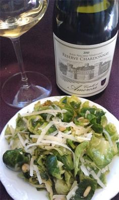 Sautéed Brussels Sprouts with Pine Nuts paired with our Bien Nacido Reserve Chardonnay