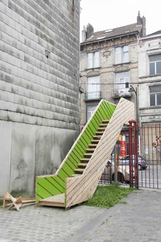 Curo Garden, Brussels, by Raumlabor staircase Urban Furniture, Street Furniture, Concrete Furniture, Architecture Details, Landscape Architecture, Architecture Diagrams, Architecture Portfolio, Urban Landscape, Landscape Design