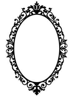 Ornate Oval Frame Wall – Amee House Mirror Tattoos, Framed Tattoo, Tattoo Frame, Motif Arabesque, Victorian Picture Frames, Molduras Vintage, Cd R, Silhouette Frames, Frame Clipart