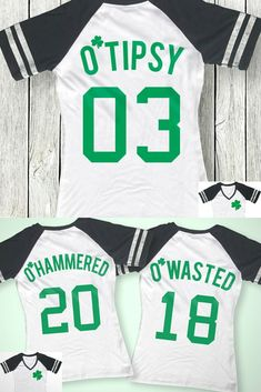 fb0709c8 O'Wasted St. Patrick's Day Drinking Team Shirt - 3 Names to Pick, St.  Patty's Day Shirt, St. Paddy's Day, Shamrock, Drinking Shirts