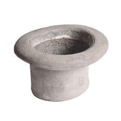 Concrete Top Hat Plant Pot