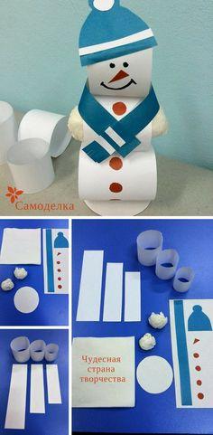 Детская поделка Снеговик