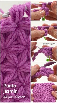 I love learning new stitch techniques, because it helps me to increase the variety on my crochet projects. I want to show you the jasmine crochet stitch. Crochet Stars, Crochet Flowers, Crochet Lace, Free Crochet, Diy Crafts Crochet, Crochet Projects, Crochet Stitches Patterns, Knitting Patterns, Crochet Videos
