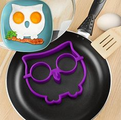 Binmer(TM) Little Cute Owl Frog Shaper Eggs Mold Silicone Moulds Egg Ring Silicone Mold Cooking Breakfast Tools - Cool Kitchen Gifts